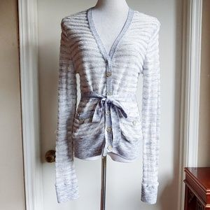 Anthropologie Moth Knit Cardigan Button Up Sheer